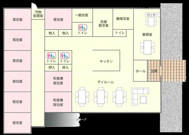 小規模多機能ホーム 南三陸 平面図